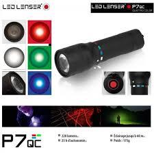 led lenser p7qc lumière blanche bleue verte et