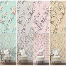 Image Is Loading FINE DECOR CHIC FLORAL CHINOISERIE BIRD WALLPAPER IN