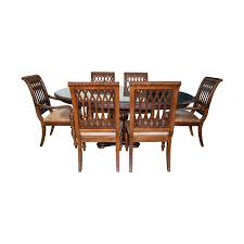 90% OFF - Bernhardt Bernhardt Embassy Row Cherry Carved Wood Dining Set /  Tables Jet Set Ding Room Items Bernhardt Santa Bbara Includes Table And 4 Side Chairs By At Morris Home 78 Off Embassy Row Cherry Carved Wood Haven Chair Each 80 Gray Deco All Montebella 9 Piece Baers Design Couch Sale Interiors Keeley Of 2