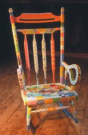 Antique Rocker Painted As Seasonal Quilt From Whimsikatz ...