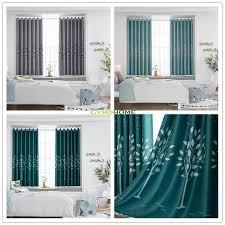 gy2844 schöne blätter bäume druck 1pc kurz vorhang wohnzimmer esszimmer anpassen schlafzimmer