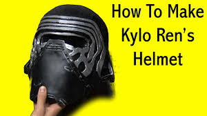 Boba Fett Helmet Pumpkin Stencil by How To Make Kylo Ren U0027s Helmet Mask Tutorial Youtube