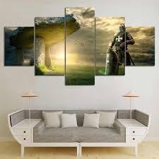 5 stück drucken bild poster ritter templer cuadros landschaft leinwand wand kunst wohnkultur für wohnzimmer leinwand malerei