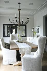 Shabby Chic Dining Room Chair Covers by Dining Room With Slipcovered Chairs Tracey Ayton Photography 81