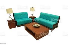 zimmer haushaltsgegenstände wohnzimmer grüne sofa tisch len einfache und elegante dekoration stockfoto und mehr bilder behaglich