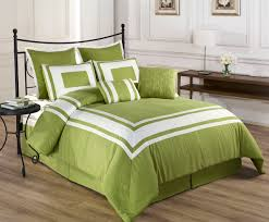 Queen Size Bed In A Bag Sets by 8 Piece Lux Décor Pistachio Green Comforter Set