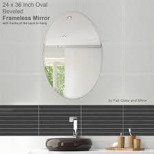 Mirror Tiles 12x12 Beveled Edge by Amazon Com Fab Glass And Mirror Oval Beveled Polish Frameless