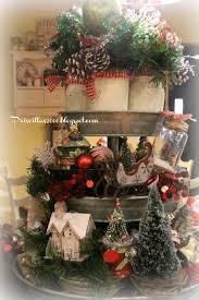 Christmas Tree Skirt Sams Club by Priscillas Christmas Galvanized Tiered Tray 2015
