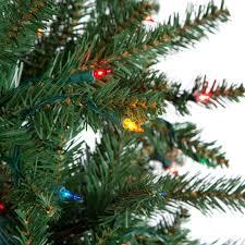 Ceramic Christmas Tree Bulbs Canada by Classic Pine Slim Pre Lit Christmas Tree Hayneedle