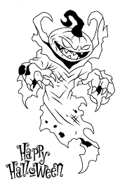 Scary Halloween Pumpkin Coloring Pages by Happy Halloween From Scary Pumpkin Coloring Page Happy Halloween
