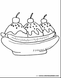 Fantastic Banana Split Coloring Sheet With Ice Cream Page And Pages For