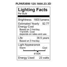polaroid lighting plpar38w 120 1600 23 3d dimmable led light bulb