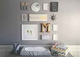 If Youre Looking For Gallery Wall Ideas Nurseries Check Out This Lovely Display Featuring Framed Gold Footprints And Some Sweet Quotes