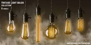 vintage edisson light bulbs collection 3d model cgtrader
