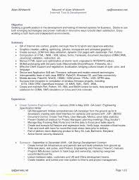 Resume Format For 3 Years Experience In Testing Beautiful Sample Software Test Engineer New