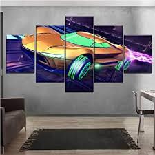 leinwand malerei wandkunst rocket league spiel auto poster