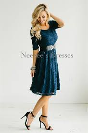 navy all over lace modest dress modest bridesmaids dresses with
