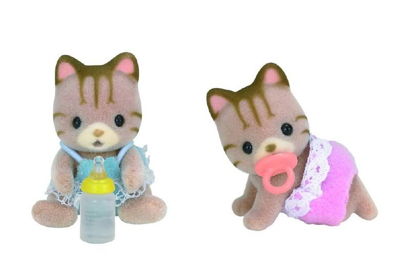 "Calico Critters Sandy Cat Twins Doll - 1.81"" x 4.72"""