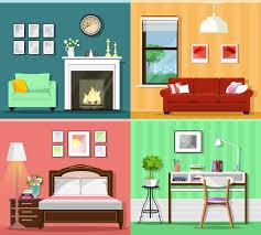 zimmerausstattung mit wohnzimmer mit sofa fenster sessel