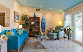 Coastal Retreat In Woodland Hills Tropical Living Room