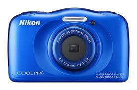 Amazon Nikon COOLPIX S33 Waterproof Digital Camera Blue