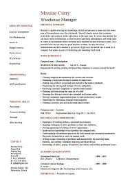 Warehouse Manager Resume Examples Job Description Stock