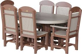 Captain Chairs For Dining Room Table by Luxcraft Poly 4ft 6ft Oval Table Set 2 With 4 Table Chairs