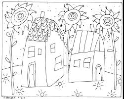 Free Download Folk Art Coloring Pages With Flower