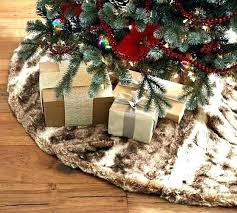 White Fur Tree Skirts Pottery Barn Skirt Faux Caramel Personalized Making A
