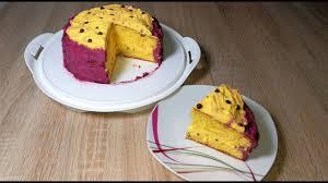 sahnecreme torte mit maracuja geschmack