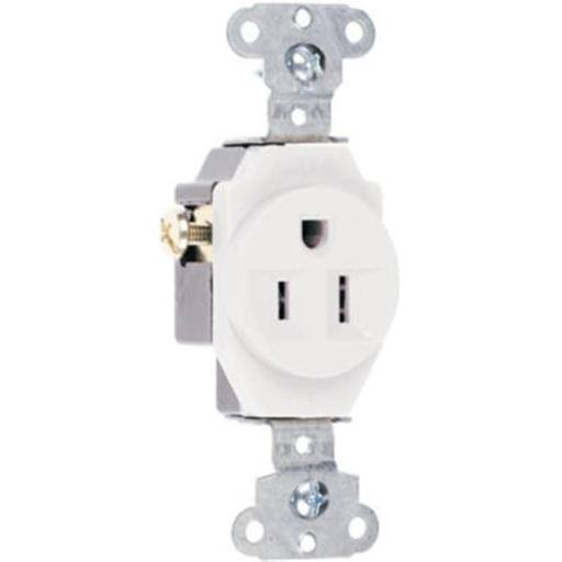 Pass & Seymour Heavy-Duty 15A Single Receptacle