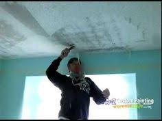 Patch Popcorn Ceiling Video by Diy Ceiling Repair Skim Coat Over A Painted Popcorn Ceiling