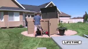 Suncast Sutton 7x7 Shed by Lifetime 60165 6 25 U0027 X 3 5 U0027 Horizontal Box Storage Shed Youtube