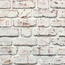 Fine Decor Rustic White Brick Wallpaper