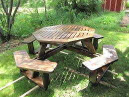 100 octagonal picnic table plans woodworking project paper