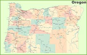 Road Map Of Oregon With Cities High Resolution Show Me On A Us