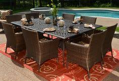 8 10 Person Patio Table by The Herve Collection 10 Person All Welded Cast Aluminum Patio