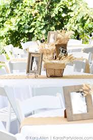 Baptism Decoration Ideas For Twins by Centerpieces And Tables At A Chalk Chalkboard And Burlap Themed