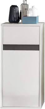trendteam smart living badezimmer hängeschrank wandschrank badkommode sol 35 x 73 x 31 cm in korpus weiß front weiß hochglanz mit viel stauraum