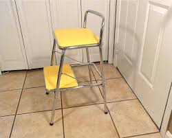 Cosco Retro Chair With Step Stool Black by Kitchen Kitchen Step Stool For Creative Kitchen Design