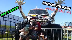 100 Monster Truck World Finals 2015 Jam XVI Awesome Pit Party Jam