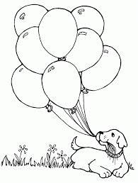 Printable Balloon Coloring Pages Balloons Drawing Kids Of Hot Air Holidays