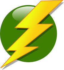 Bolt Lightning Flash Strike Yellow Green Ball
