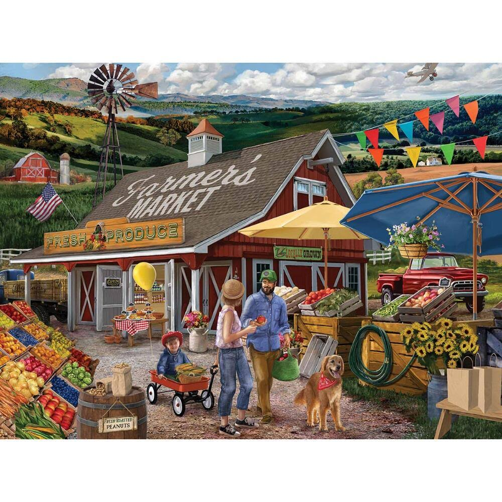 The Jigsaw Puzzle Factory Farmers Market Jigsaw Puzzle
