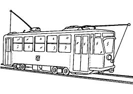 Tramway 5 Transport Coloriages à Imprimer