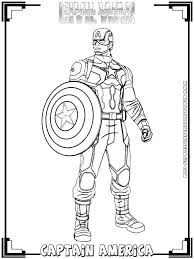 Black Panther Captain America Civil War Coloring Page Printable