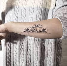 Hokusai Wave Tattoo By Dasha Sumkina