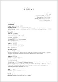 Resume Sample High School Builder For Related Post