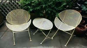 Mid Century Modern Outdoor Furniture Magnificent Patio Orange Vintage Chairs Canad Aluminum Cast For Impressive