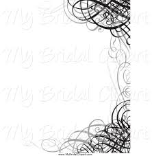Black And White Wedding Border
